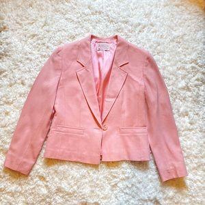 Vintage Pendleton 100% wool pink blazer